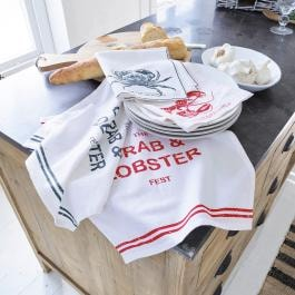 Serviette 4er Set Lobster