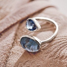 Ring Meadow blau