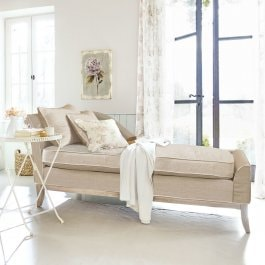 Chaiselongue Alphonse beige