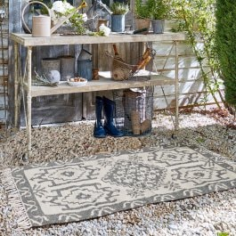 In- & Outdoor-Teppich Bordelon grau/beige